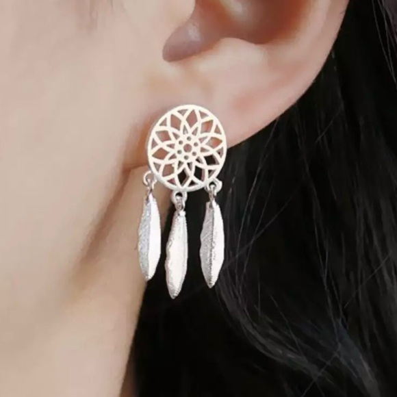 💎NEW Silver tone dream catcher earrings